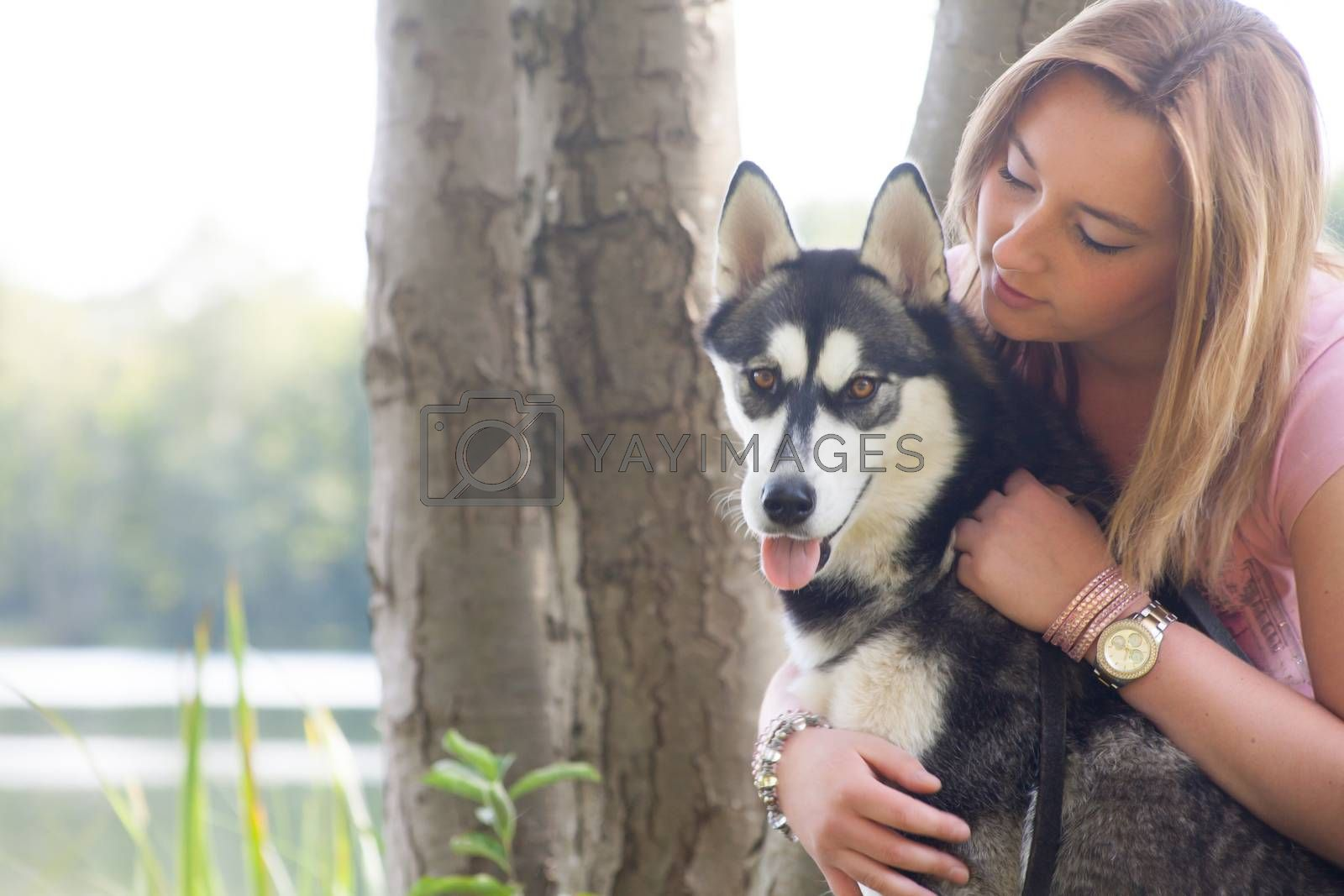 Girl loves her dog by DNFStyle