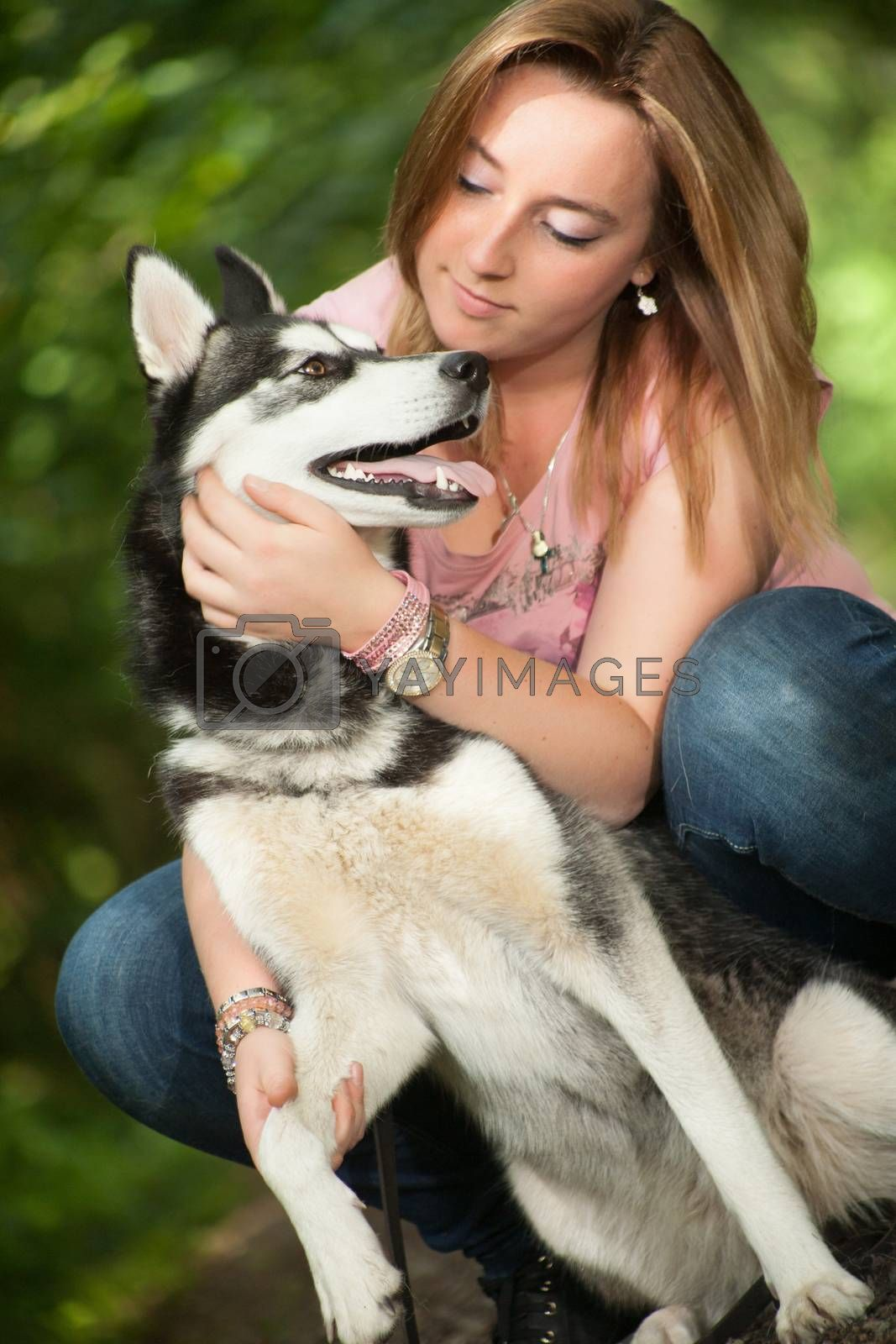 Love her dog by DNFStyle