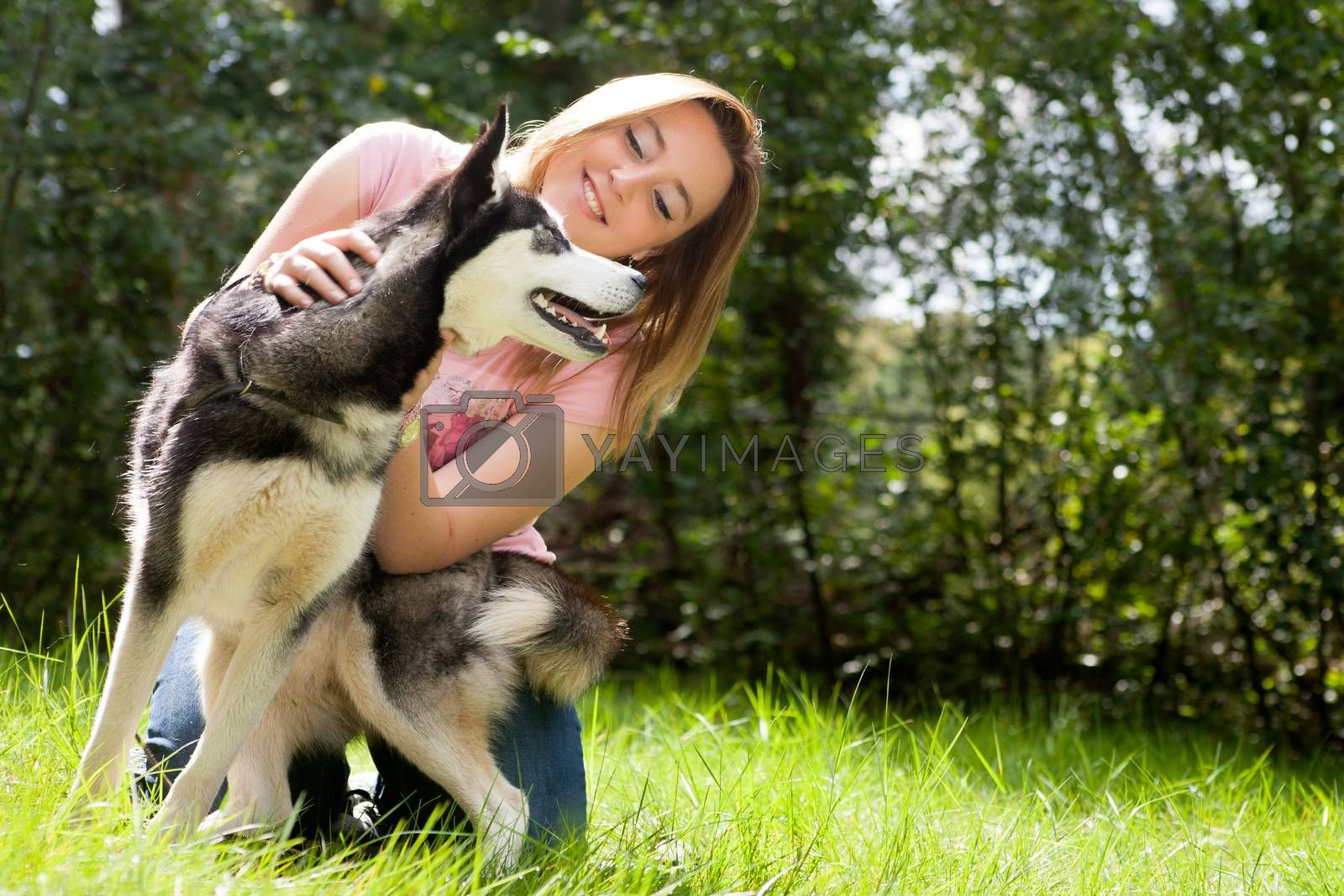 Girl and her husky by DNFStyle