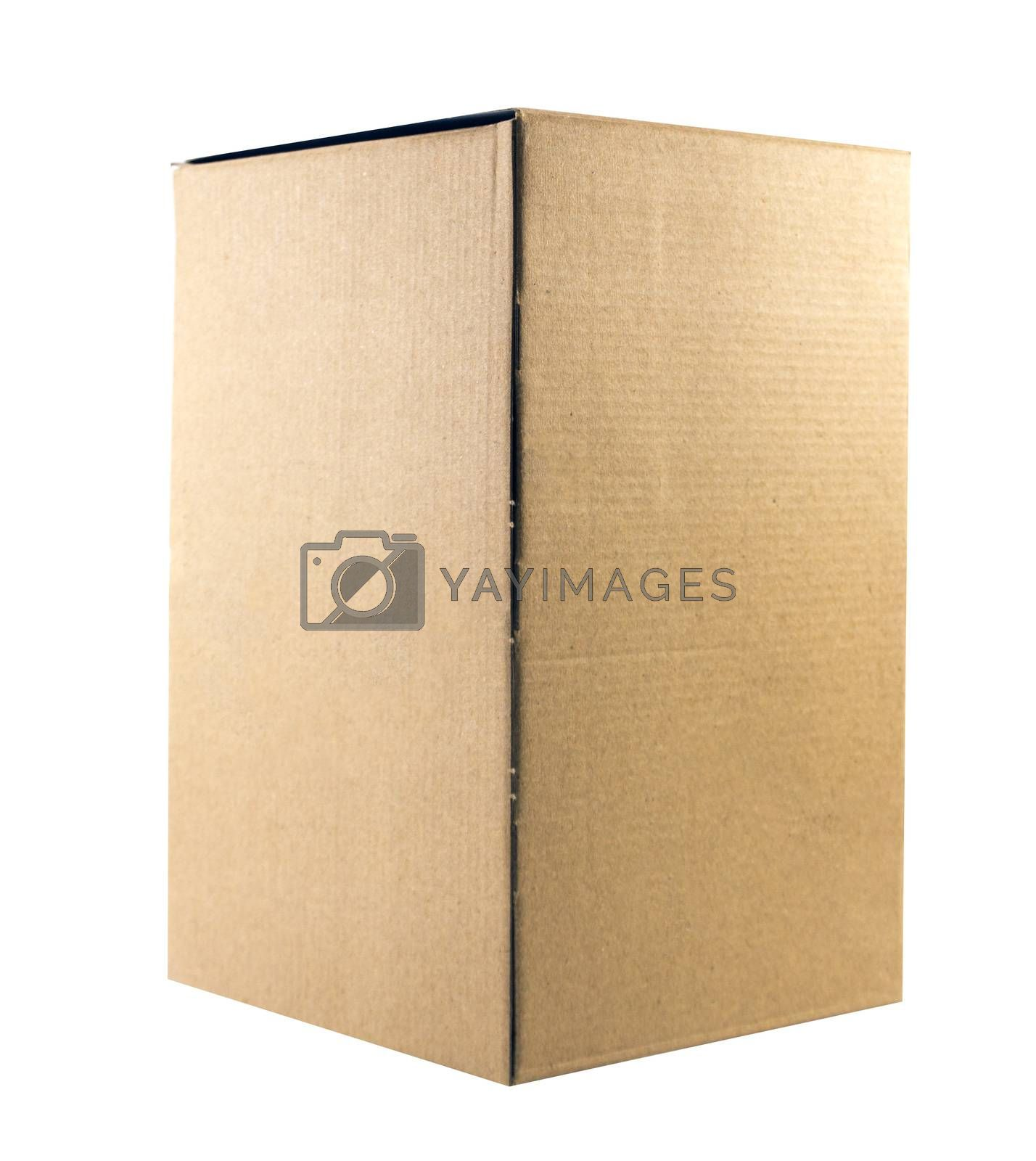 brown boxes recycle isolated on white.