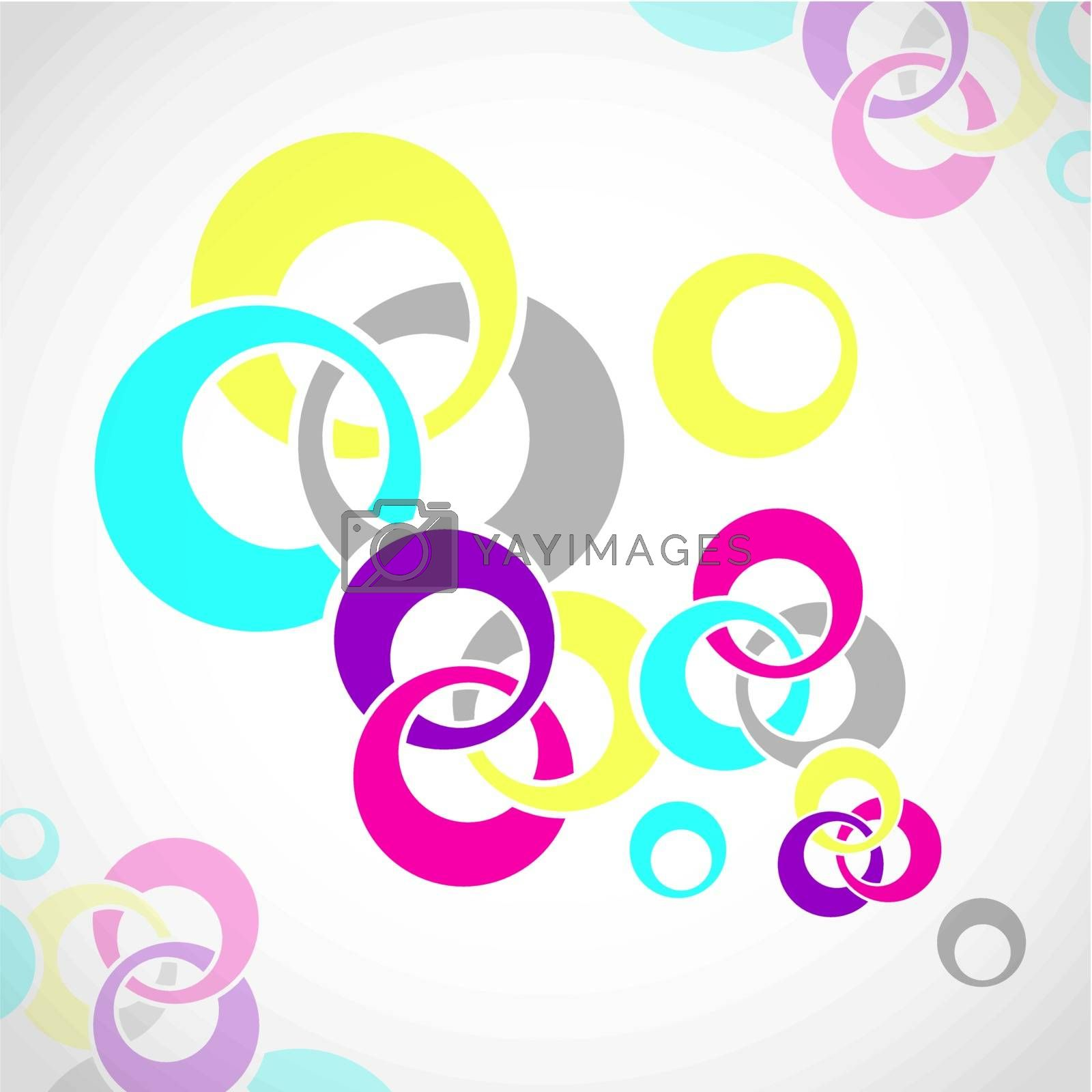 Illustration of Abstract Colorful Background With Round Shapes