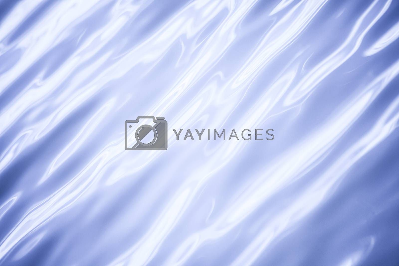 blue background of blurred water