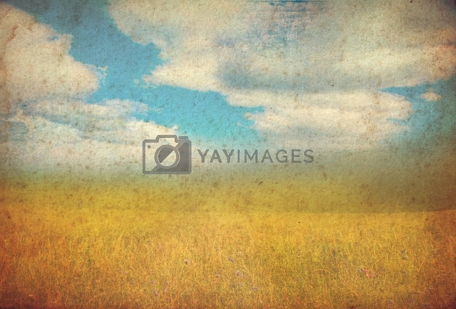 grunge autumn background with space for text