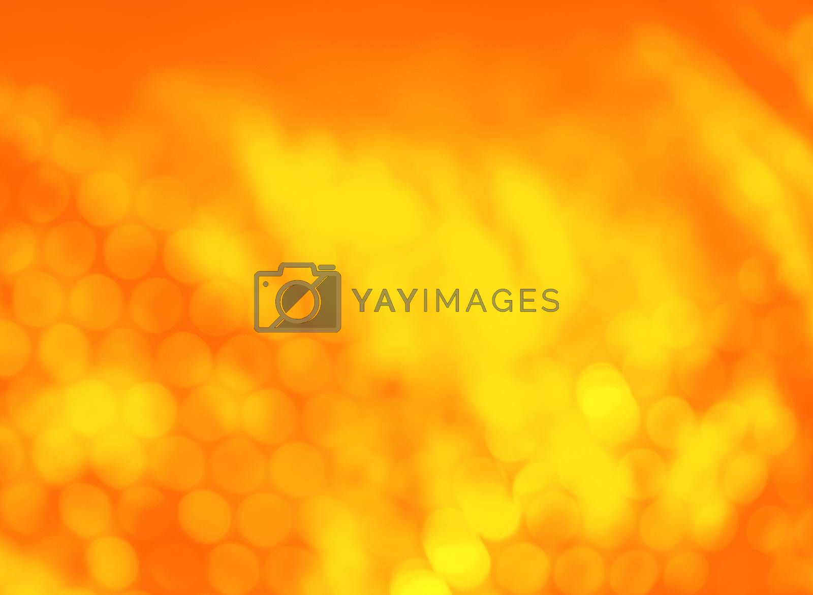 autumn frame with blur yellow background