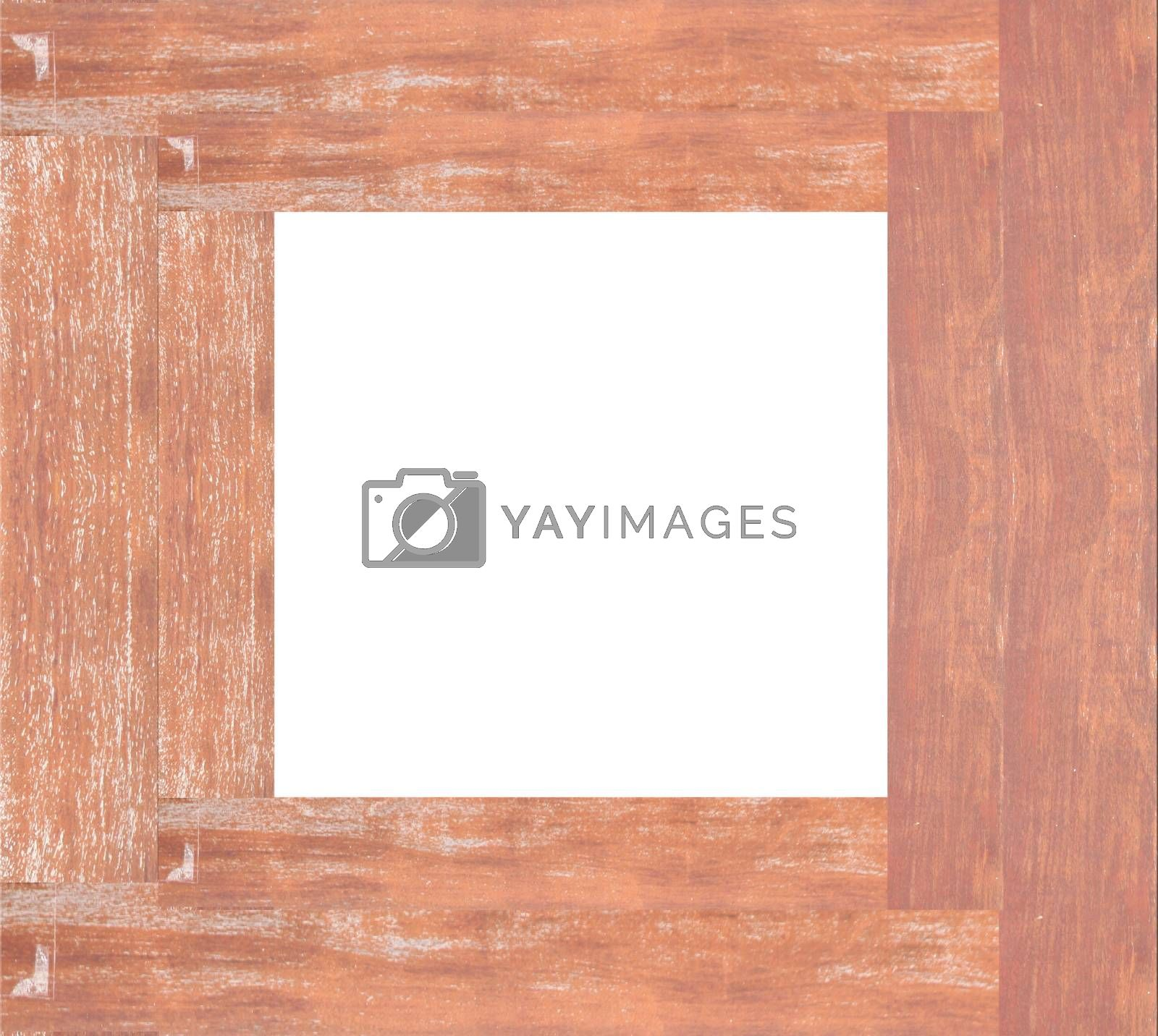 Royalty free image of Old wooden frame isolated. by meepoohyaphoto