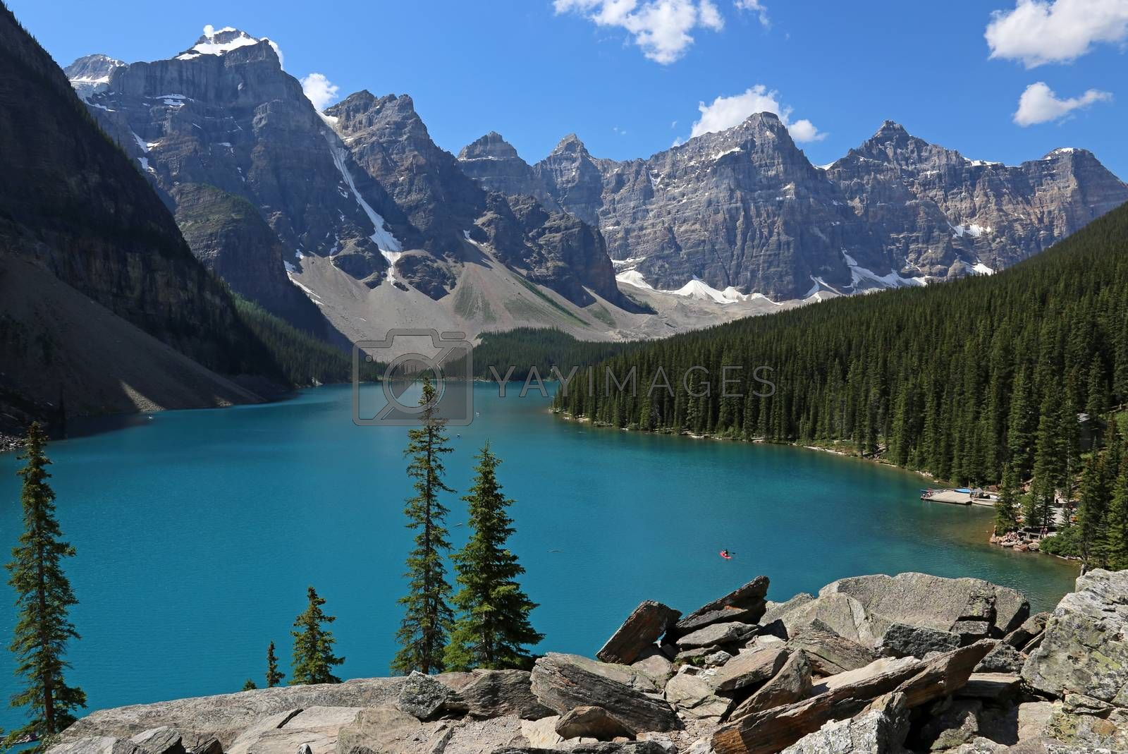 Spectacular Lake Moraine, located in Banff National Park, Alberta, Canada.