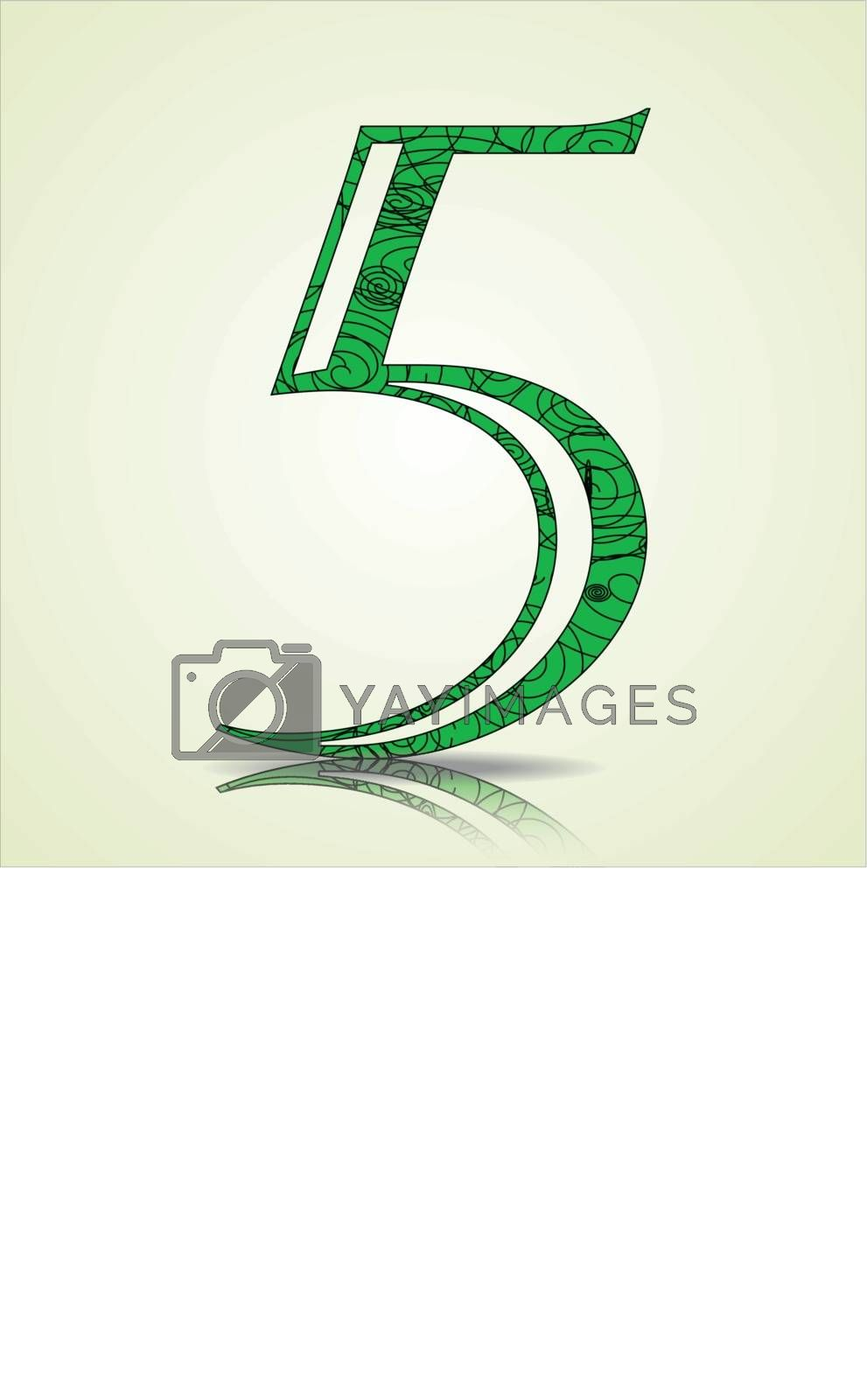 Number of Collection made of swirls - 5 Vector illustration
