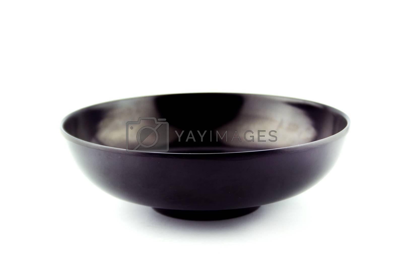 Empty plastic, ceramics bowl.