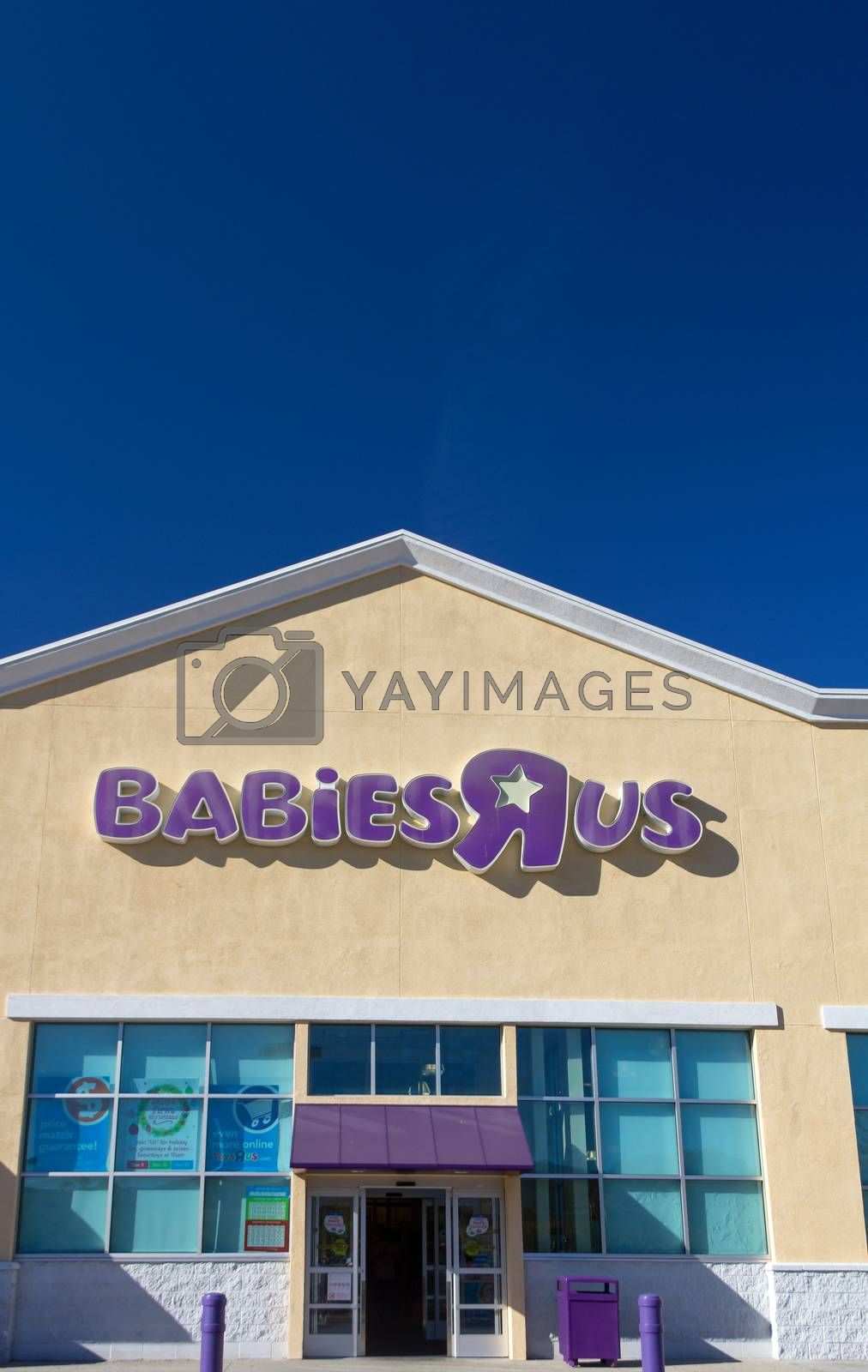 "SANTA CLARITA, CA/USA - NOVEMBER 8, 2014: Babies ""R"" Us store exterior. Babies ""R"" Us is an American baby and juvenile-products retailer."