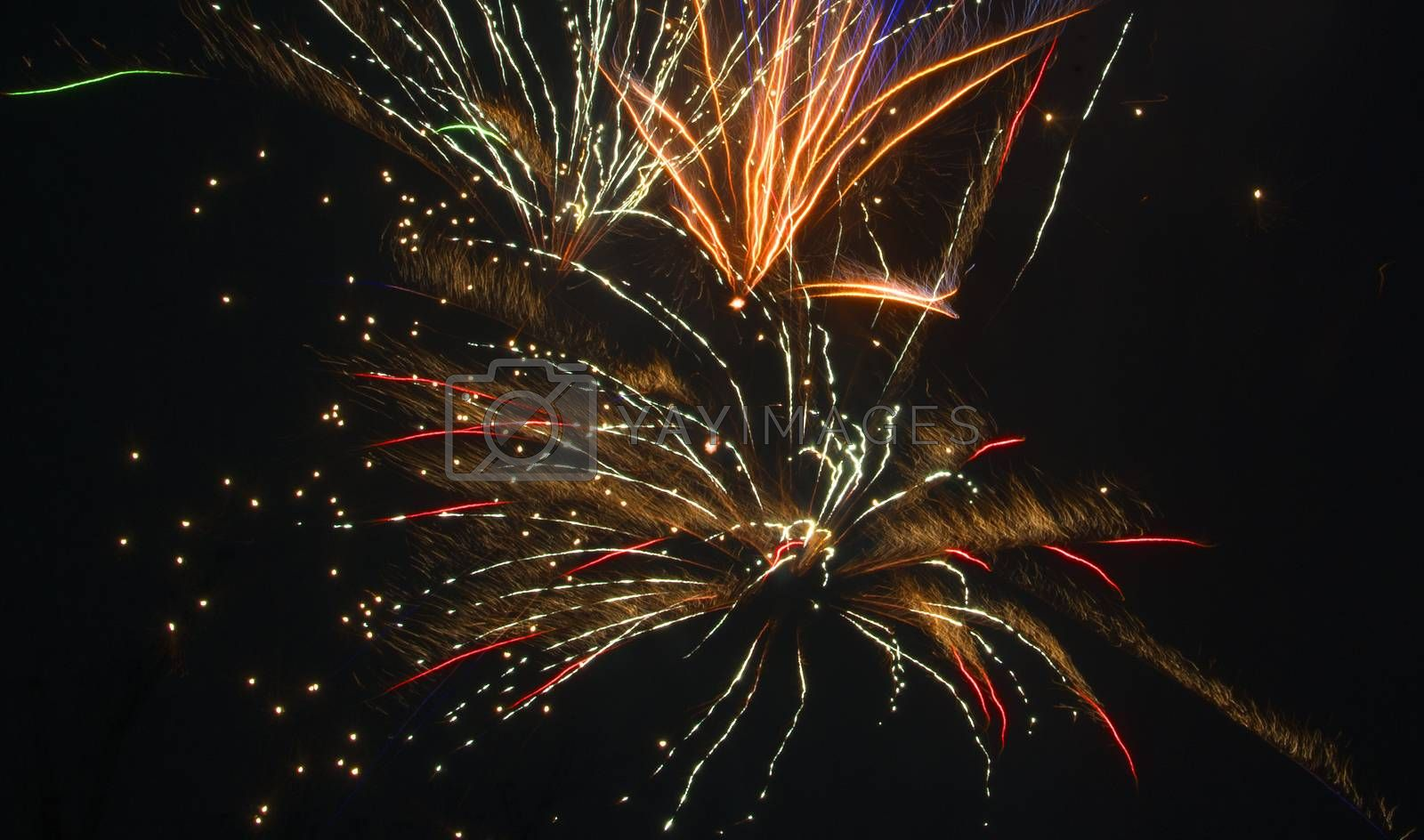 new year firework from december to january