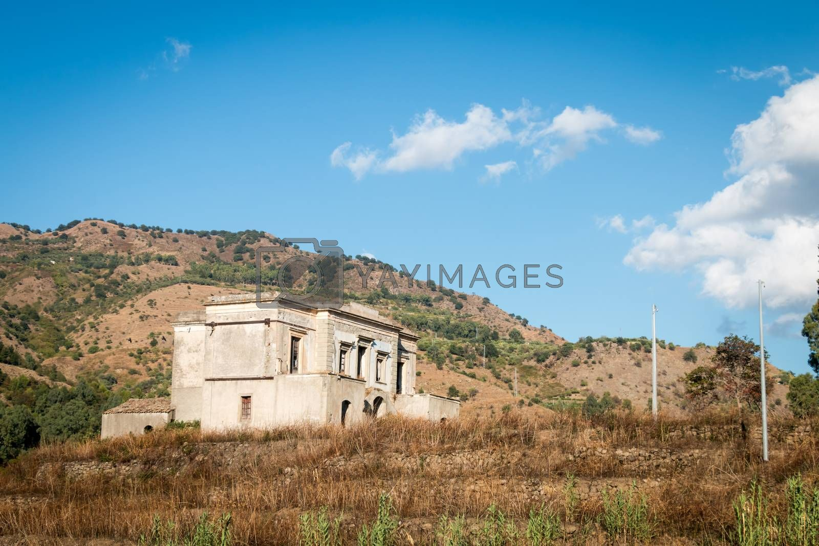 An old noble country house in Sicily Italy