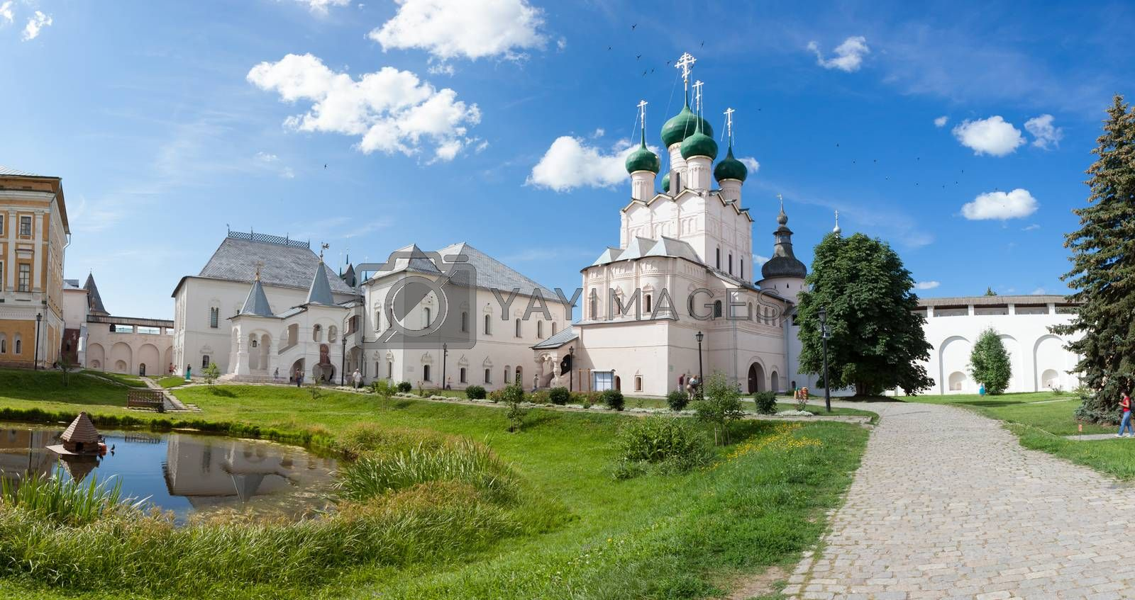 Panorama of the Kremlin in the city of Rostov, Russia