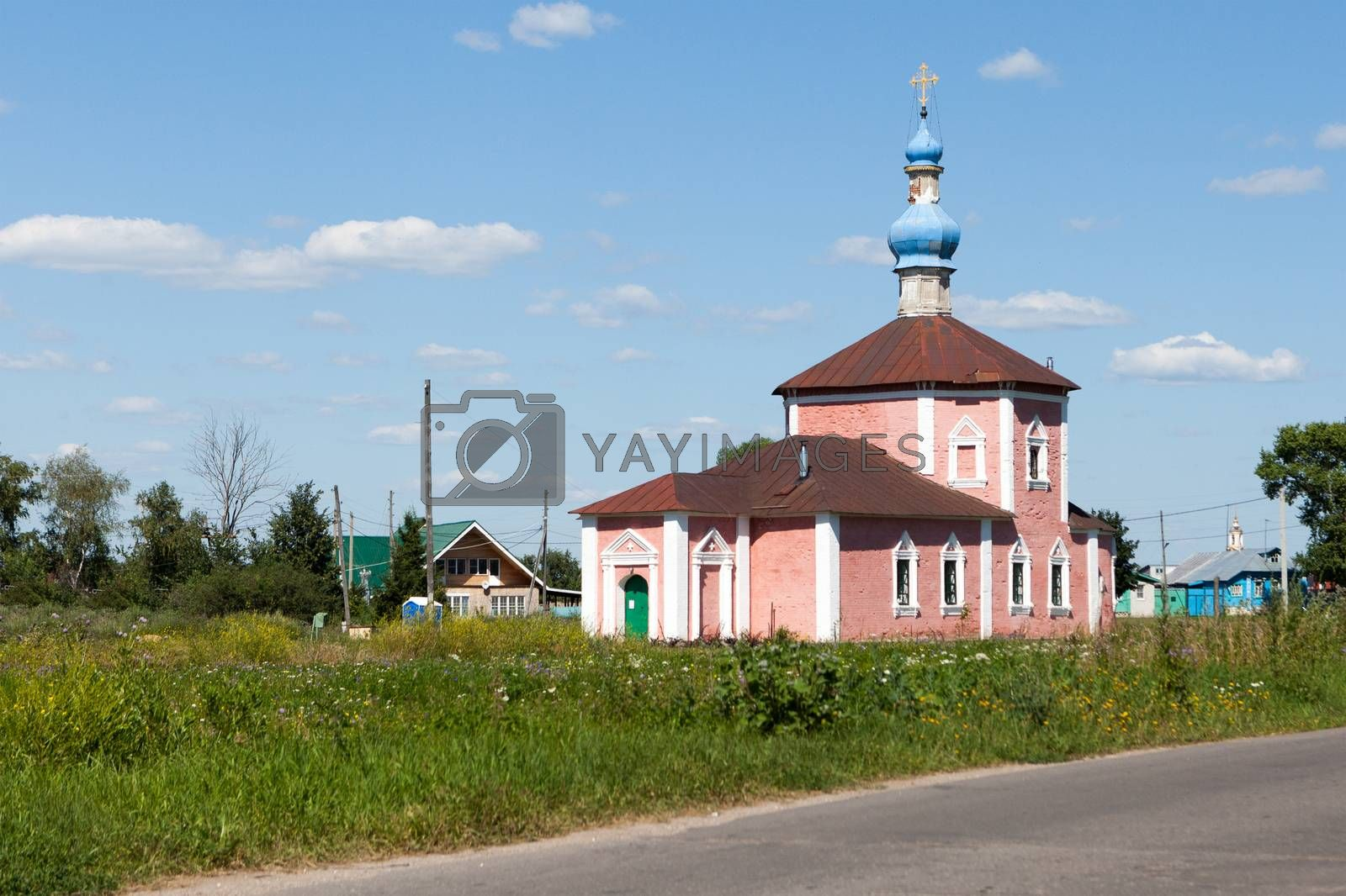 the building of ancient Russian Orthodox Church in the city of Rostov  Russia