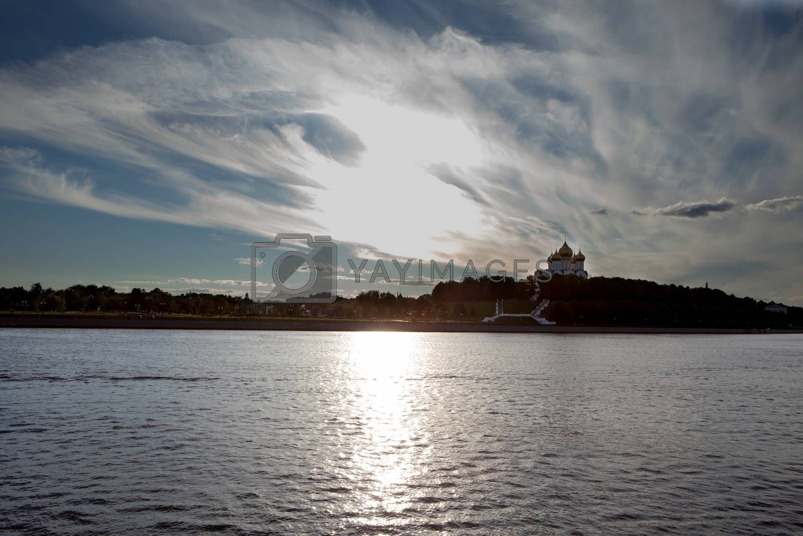 panorama of the city  Yaroslavl, Russia, in a sunny day