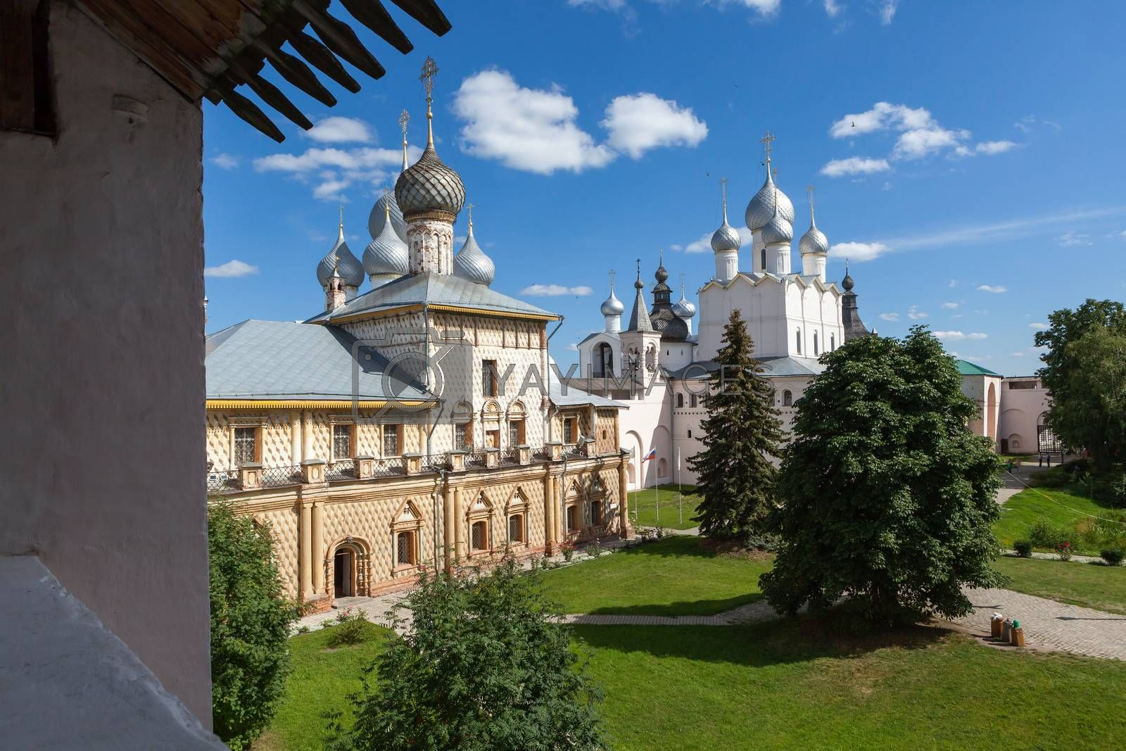 Panorama of the Kremlin in  city Rostov , Russia
