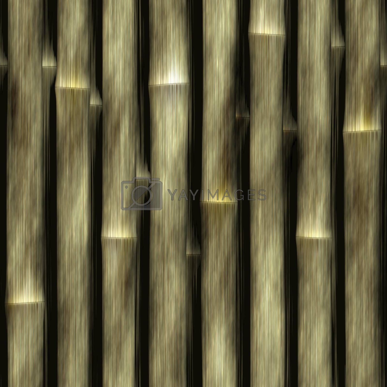 Seamless bamboo poles texture. Tiles as a pattern in any direction.