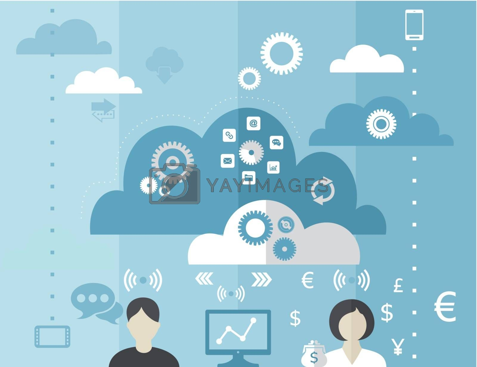 people negotiate the cloud business