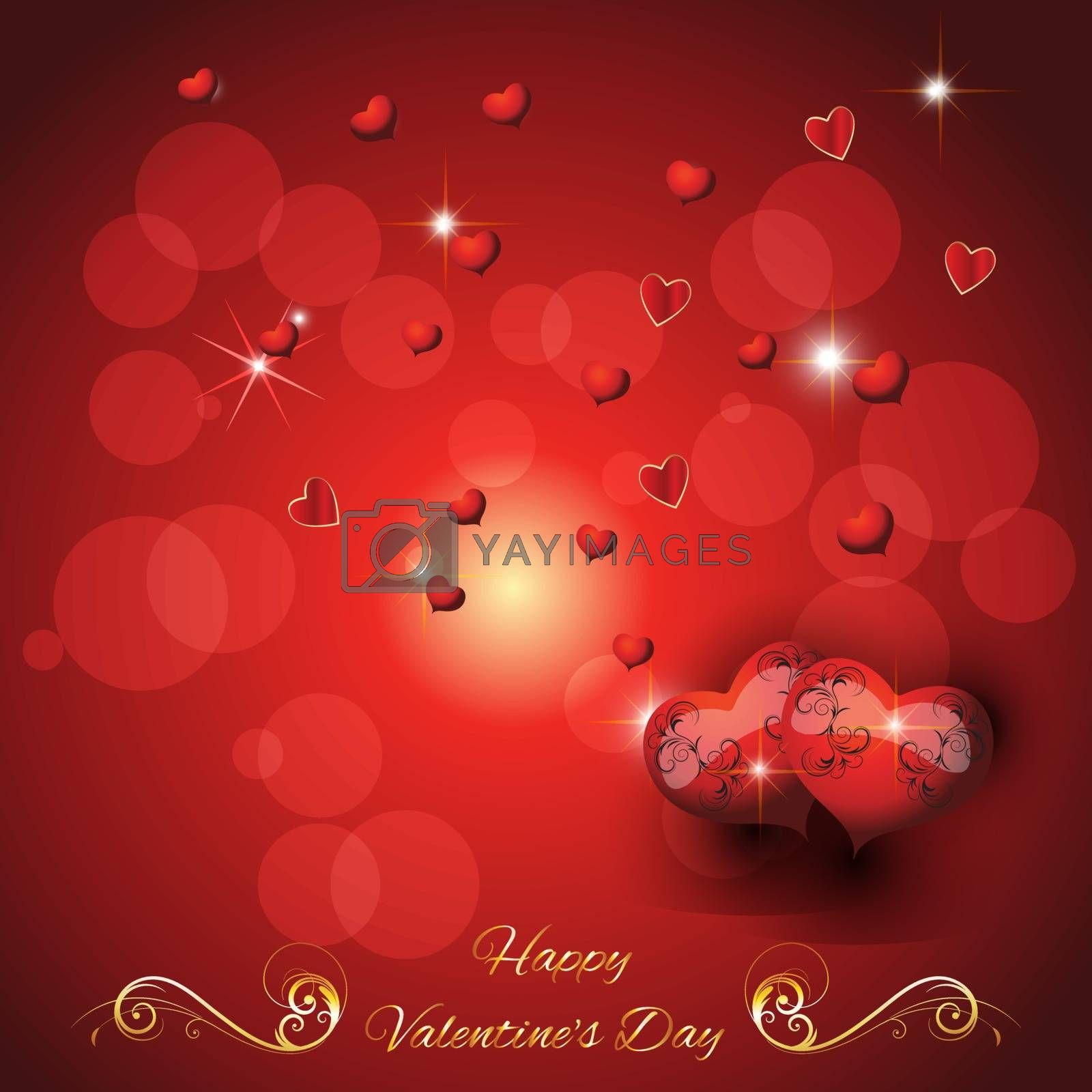 Royalty free image of greeting card  valentine's day by andreyl