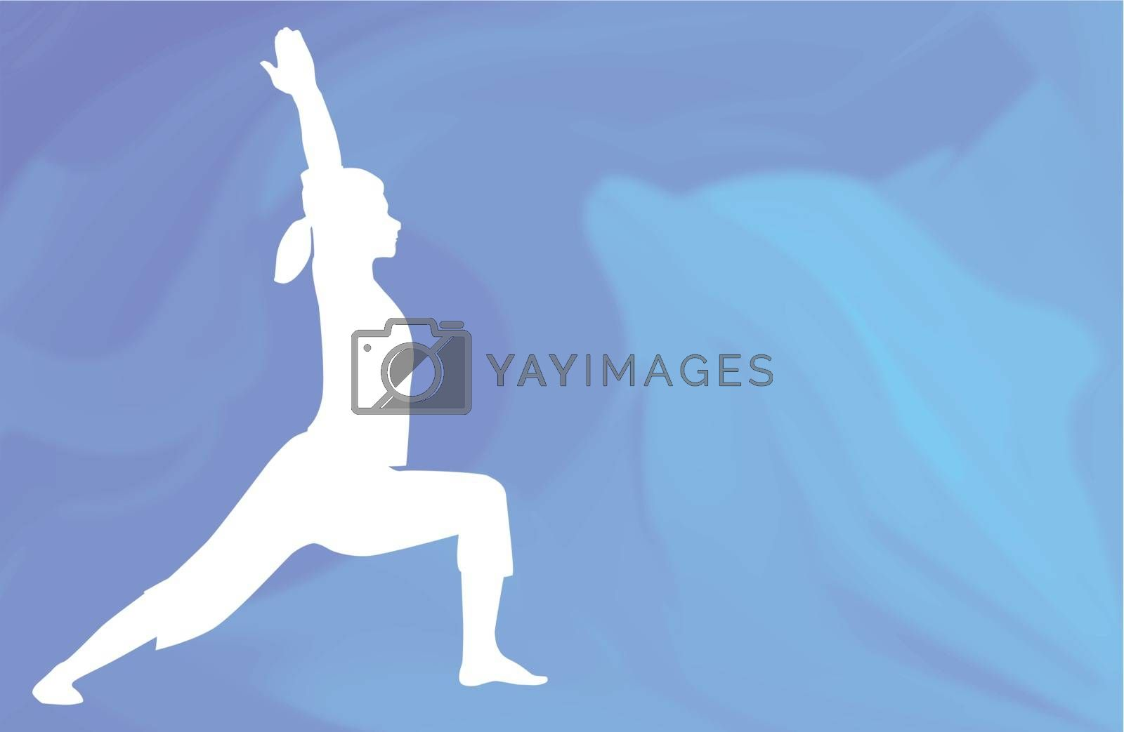 An asana being posed against a dolphin ocean background