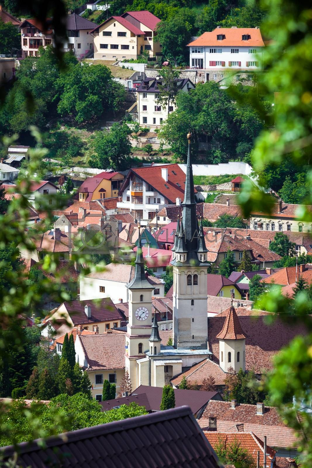 St. Nicholas Church bell tower, Brasov by PixAchi