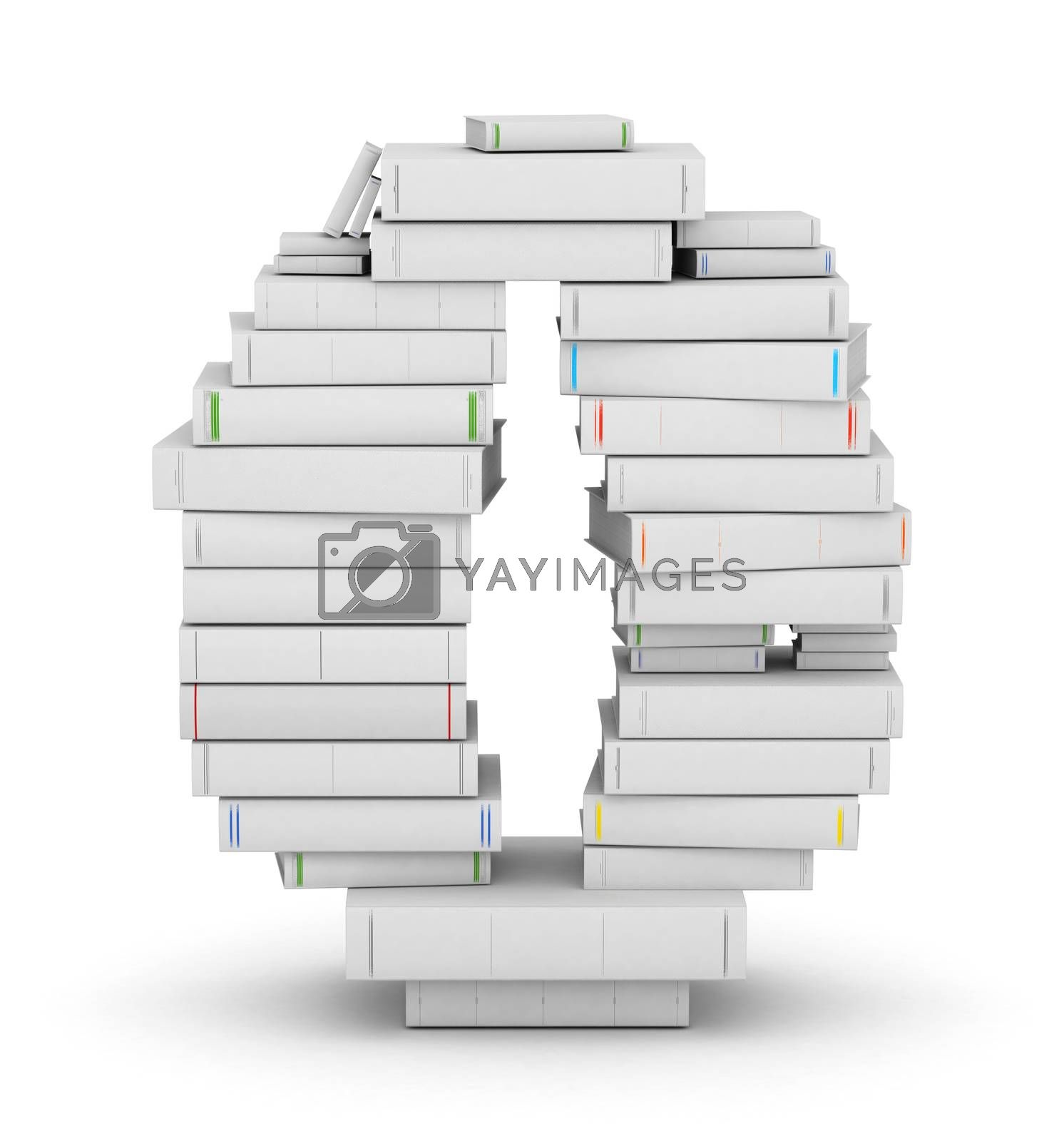 Royalty free image of Number 0, stacked from blank books by iunewind