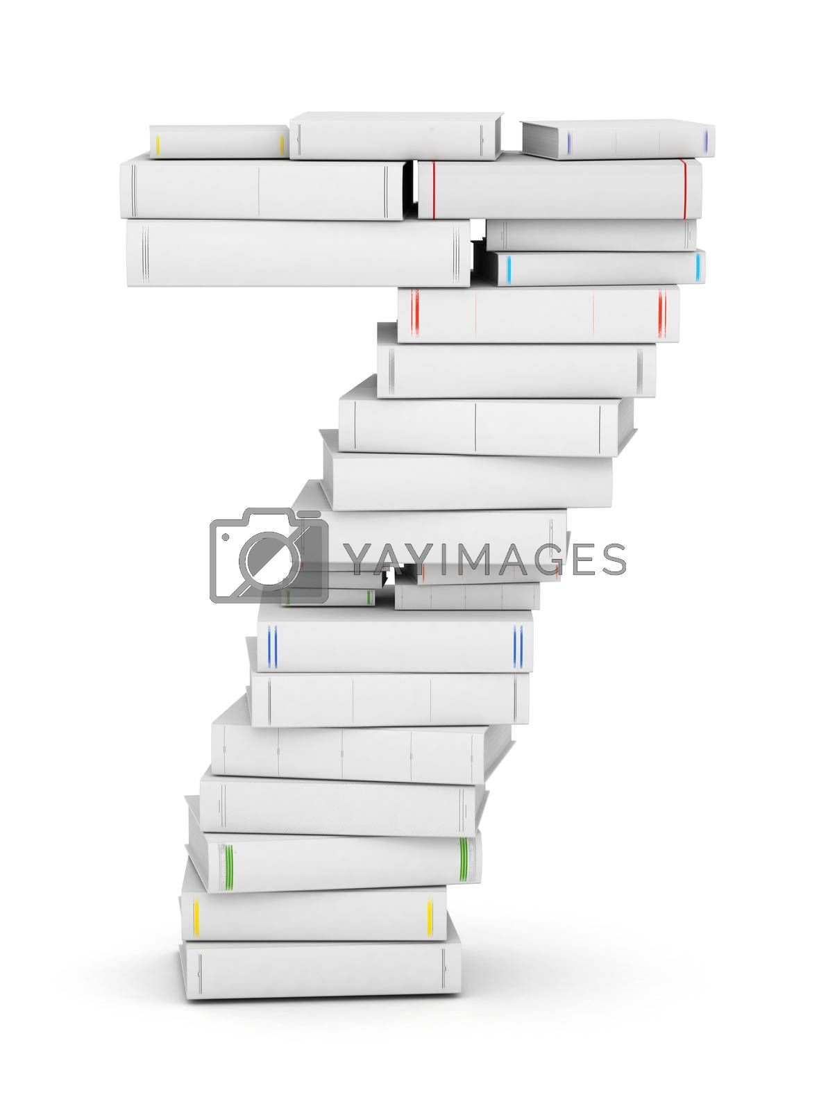 Royalty free image of Number 7, stacked from blank books by iunewind