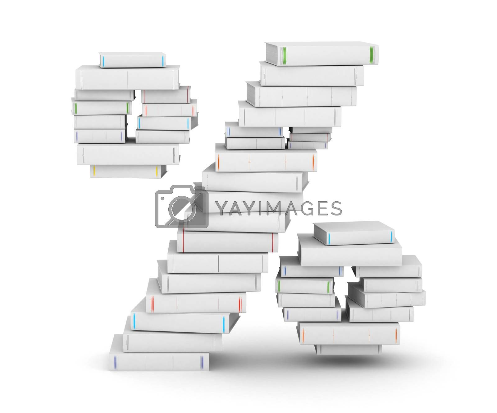 Royalty free image of Number , stacked from blank books by iunewind