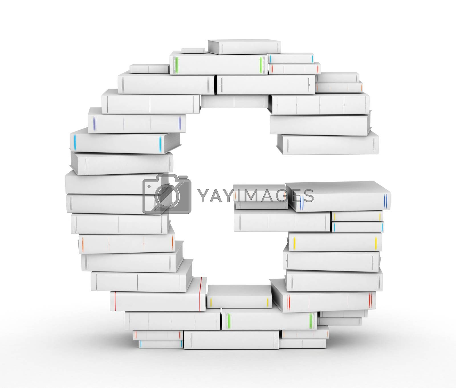 Royalty free image of Letter G, stacked from blank books by iunewind