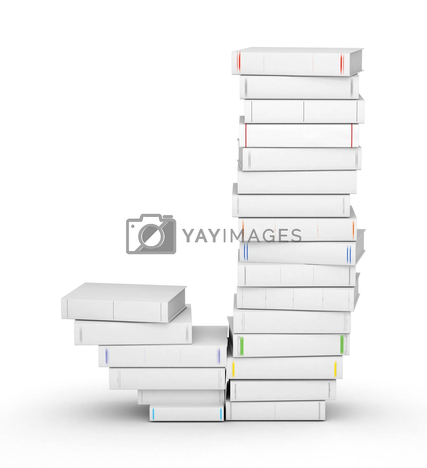 Royalty free image of Letter J, stacked from blank books by iunewind