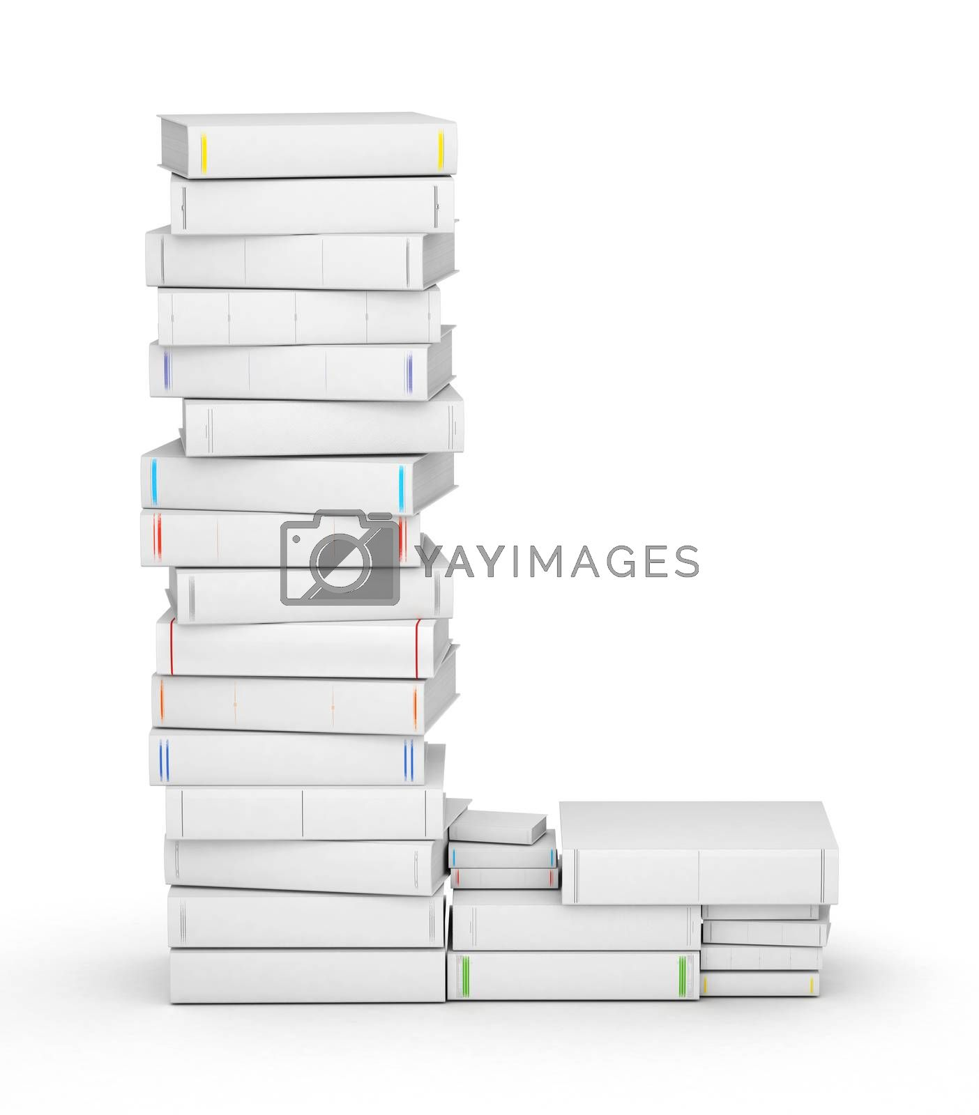 Royalty free image of Letter L, stacked from blank books by iunewind