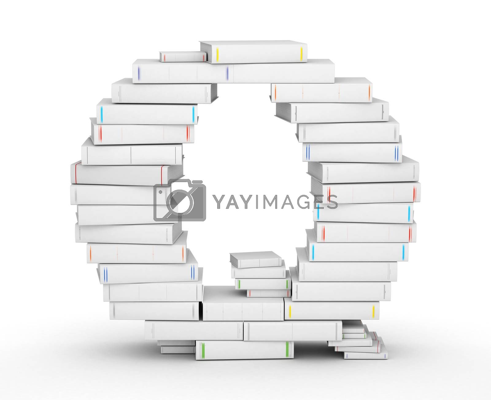Royalty free image of Letter Q, stacked from blank books by iunewind