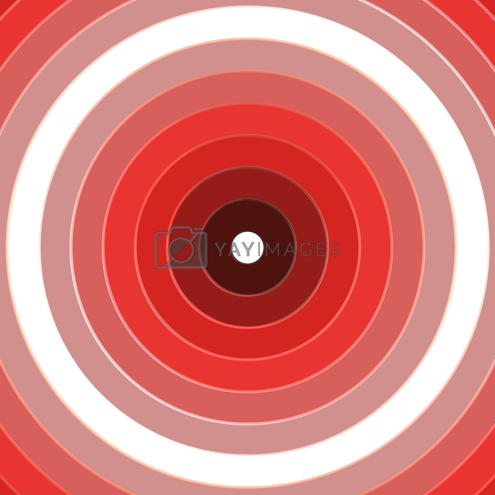 Red and white circular target rings illustration or background