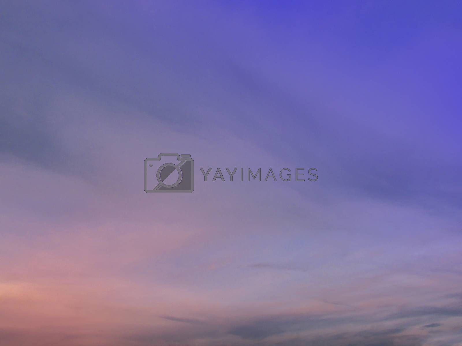 Sunset with multiple colors on a spring evening