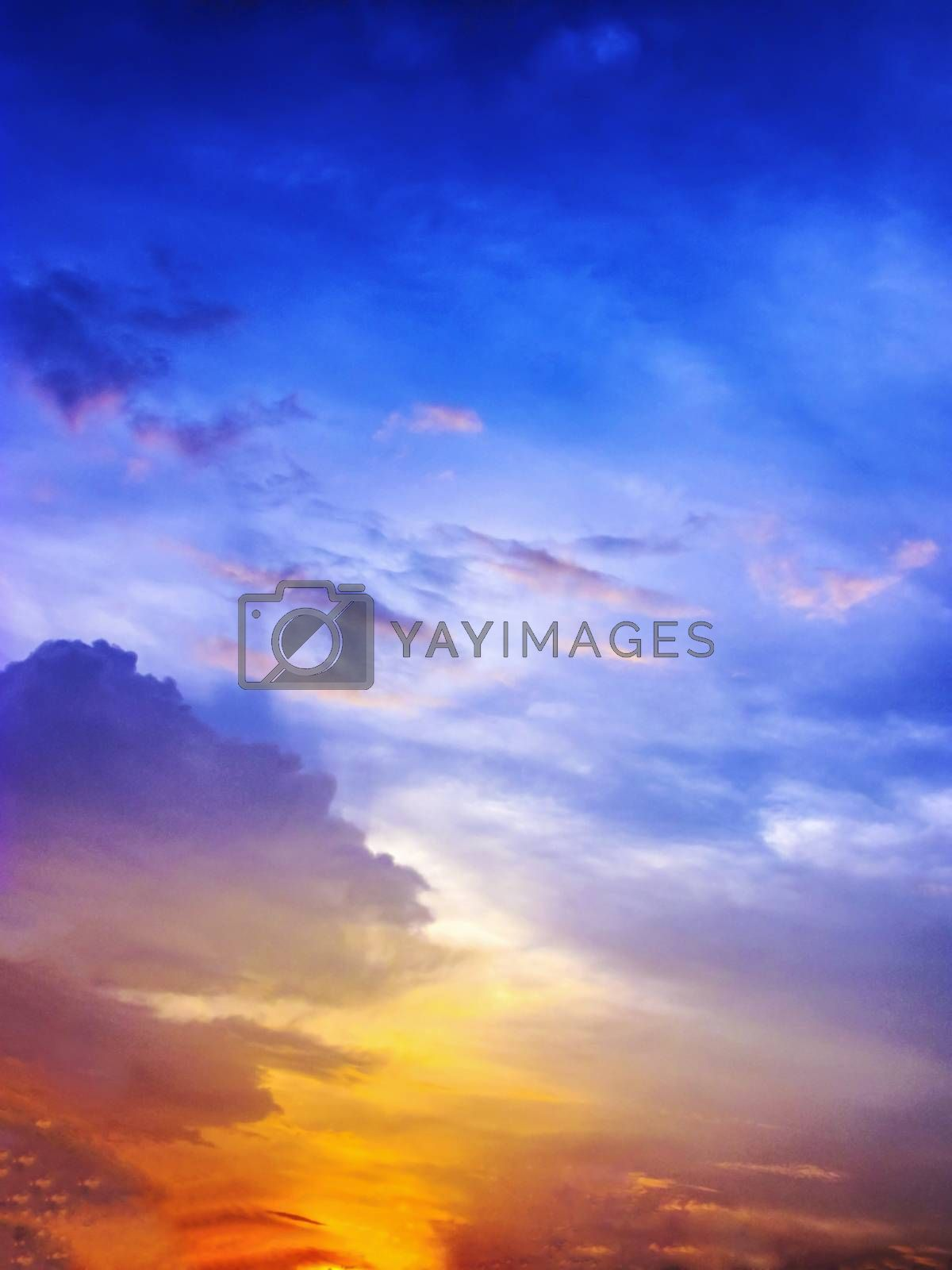 Colorfull Sunset with multy color..blue,orange,purple,red,sunlight