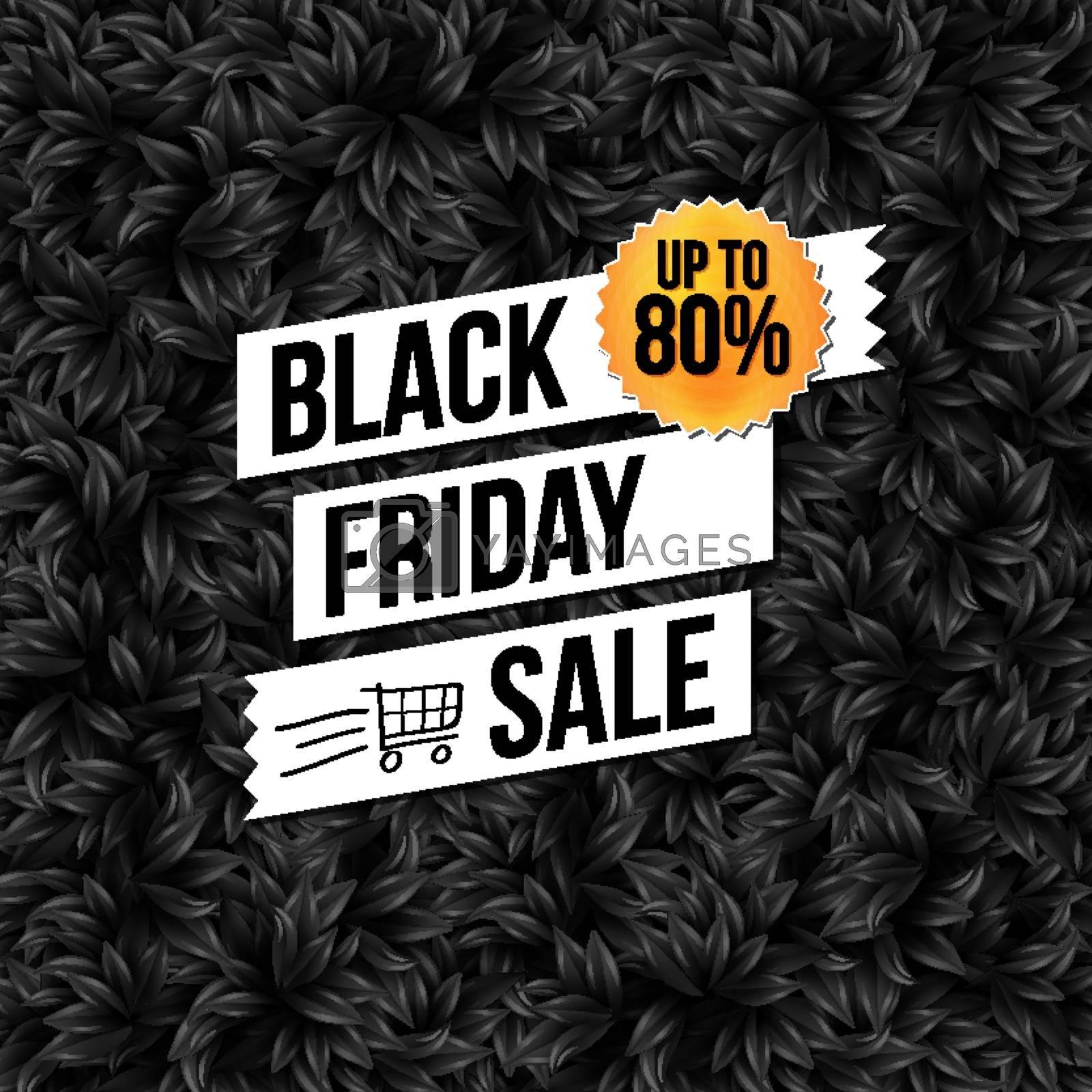 Black Friday sale business poster. Vector illustration.