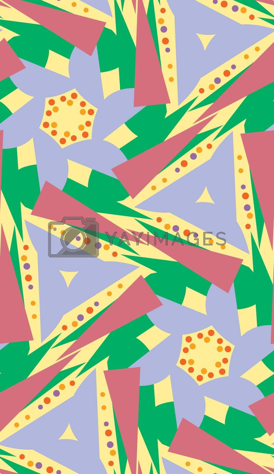 Green, Blue and Yellow Pattern by TheBlackRhino
