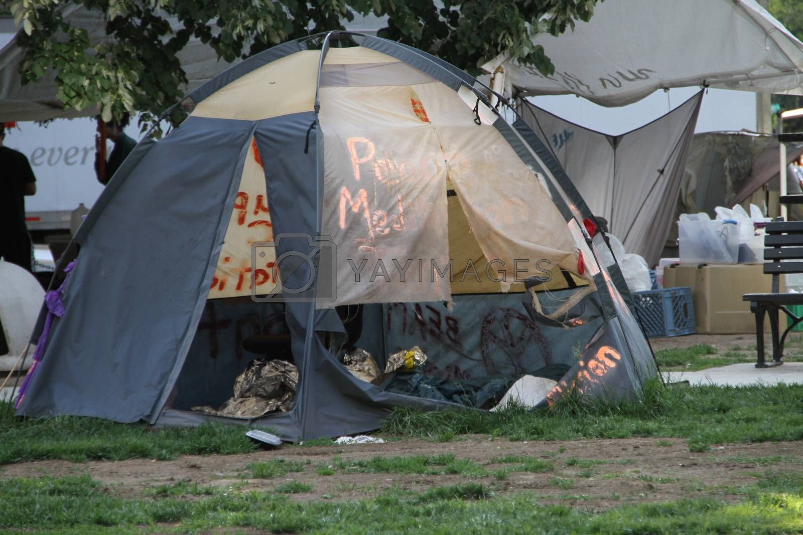 The camp of the Occupy movement in Washington by olegkozyrev