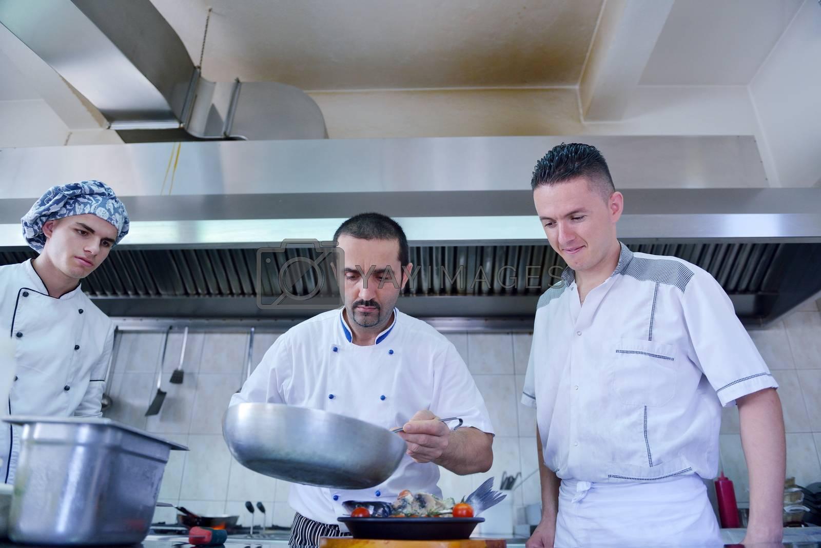 chef preparing food by .shock