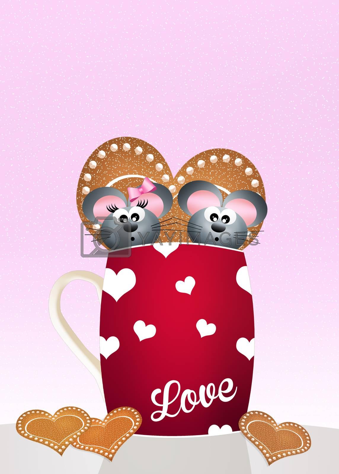 illustration of Valentines day