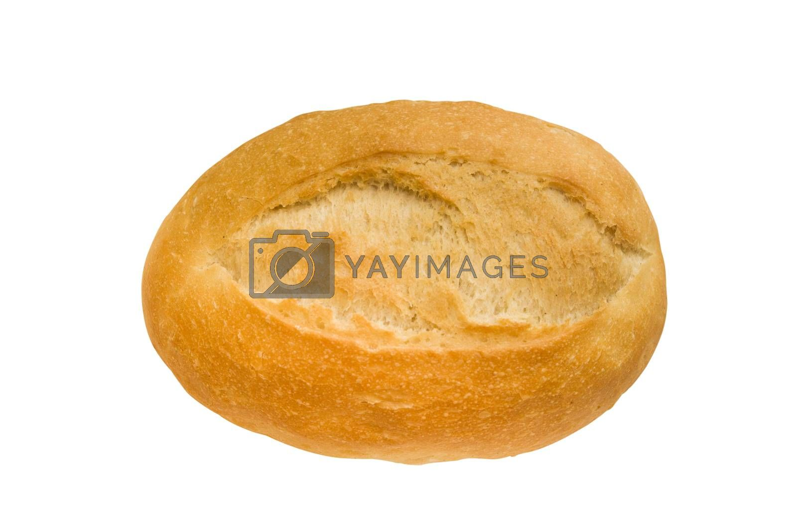 isolated baguette with clipping path in jpg.