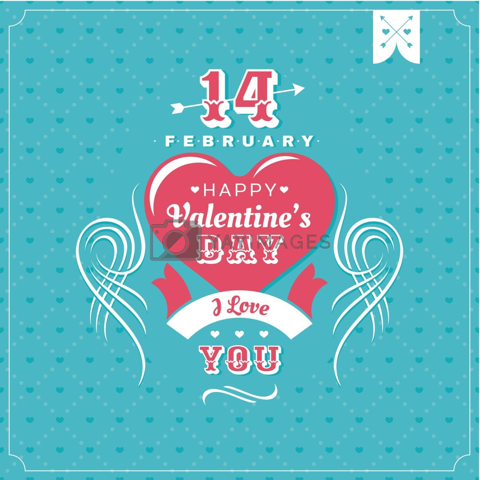 Valentines Day card vector illustration