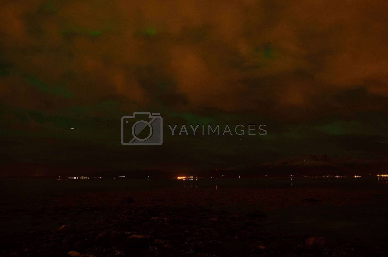 aurora borealis in autumn