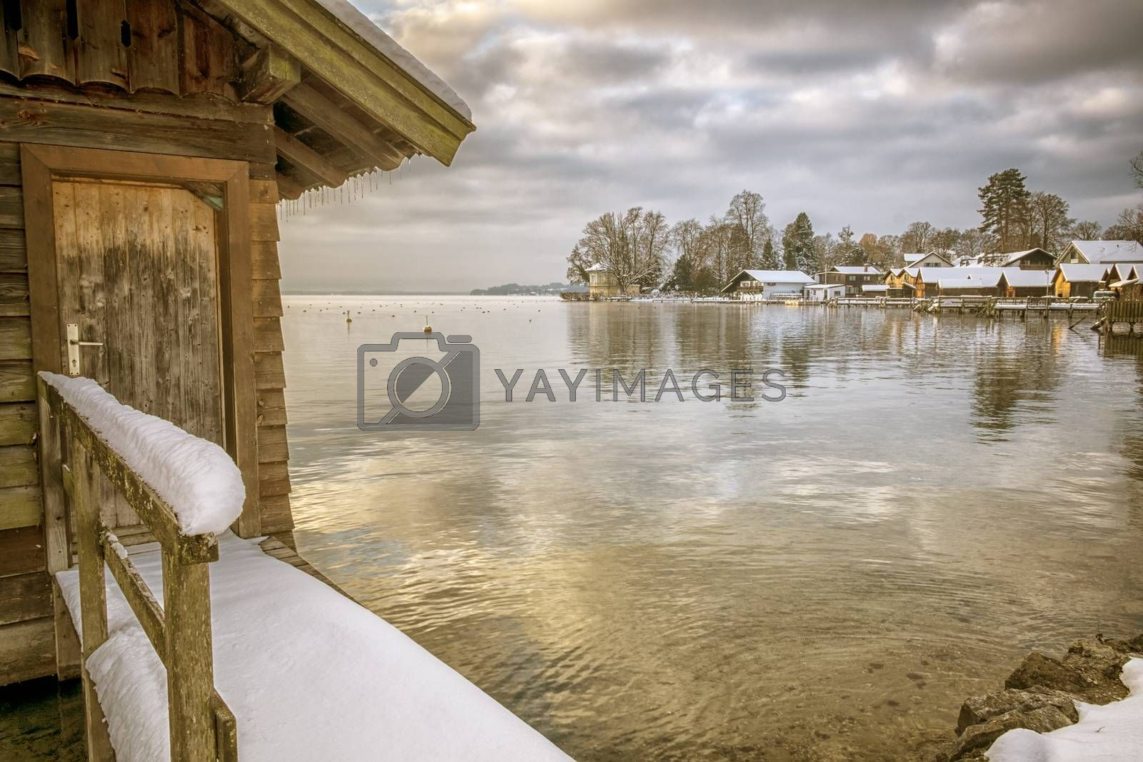 An image of the Starnberg Lake in Bavaria Germany - Tutzing winter