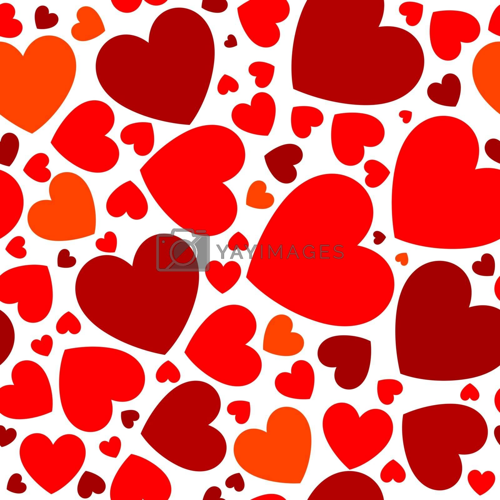 Bright red hearts by liolle