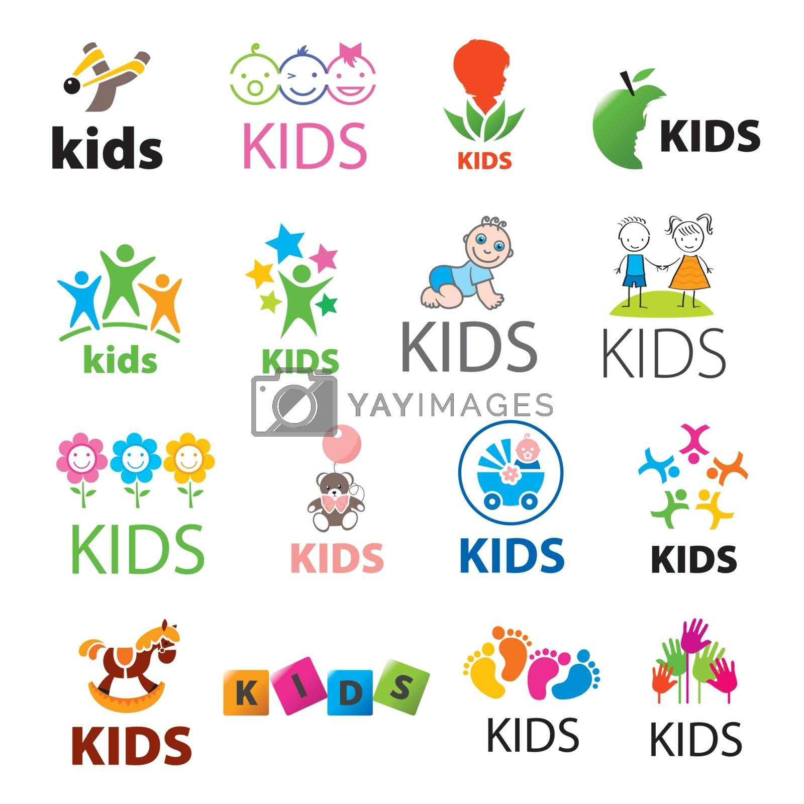 biggest collection of vector logos children by Butenkov