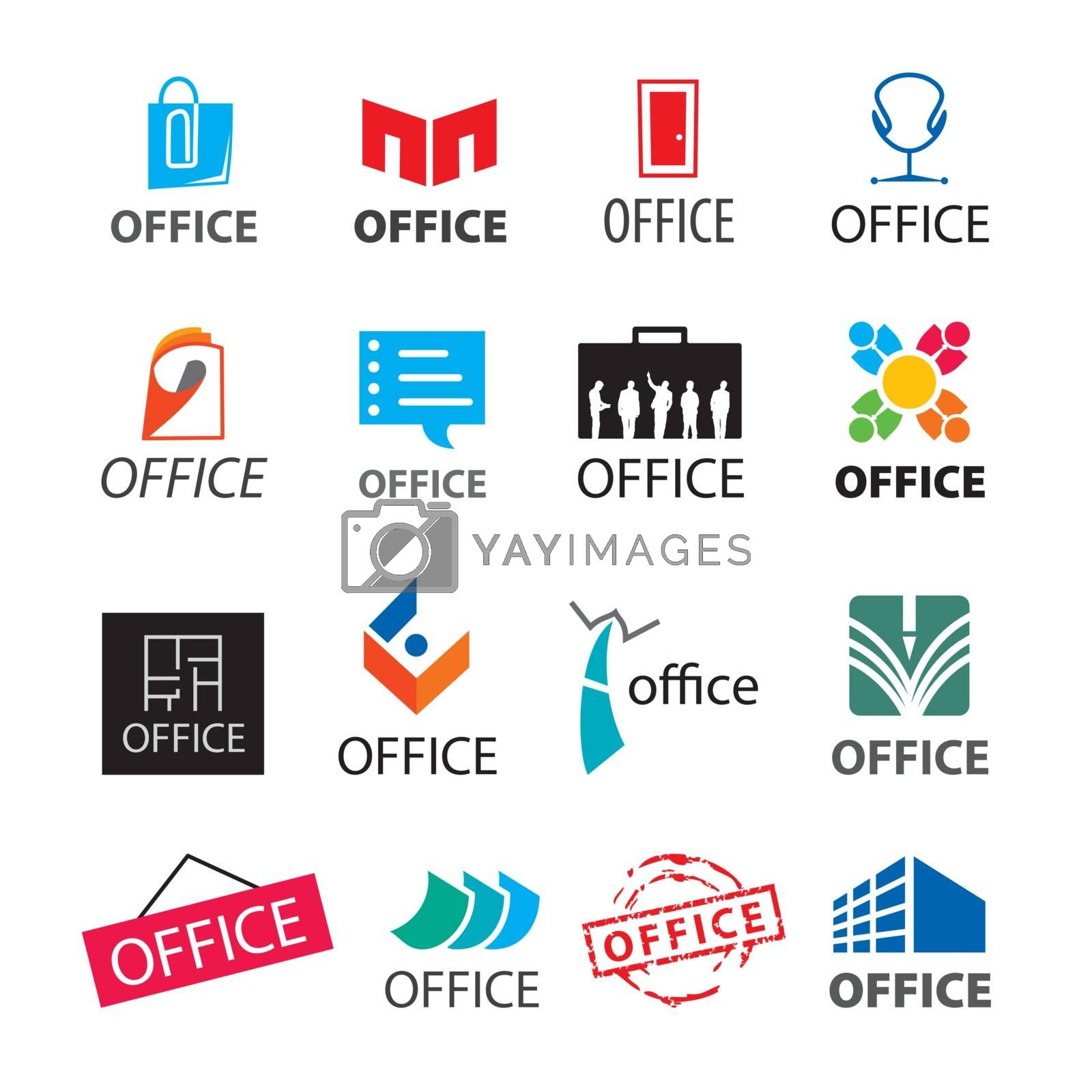big set of vector logos office