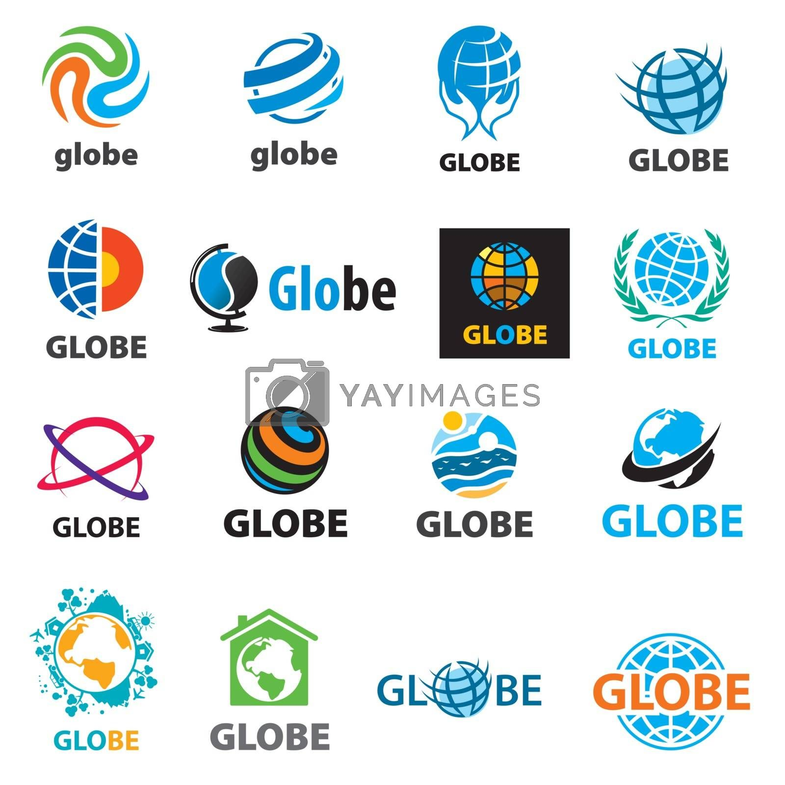 biggest collection of vector logos globes