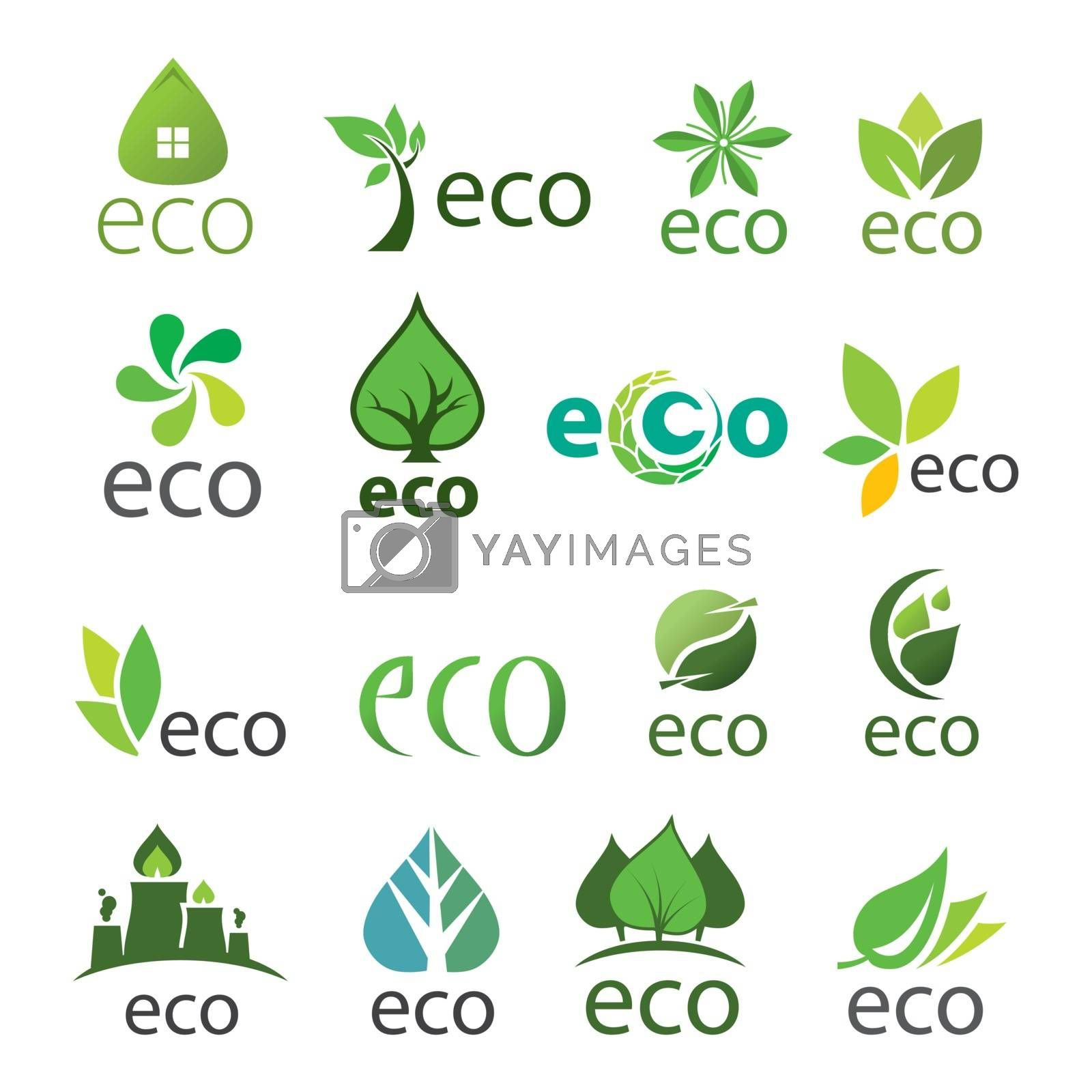 biggest collection of vector logos eco by butenkow
