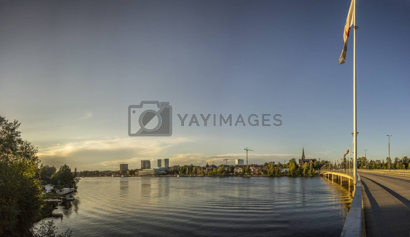 River and City of Northern Sweden