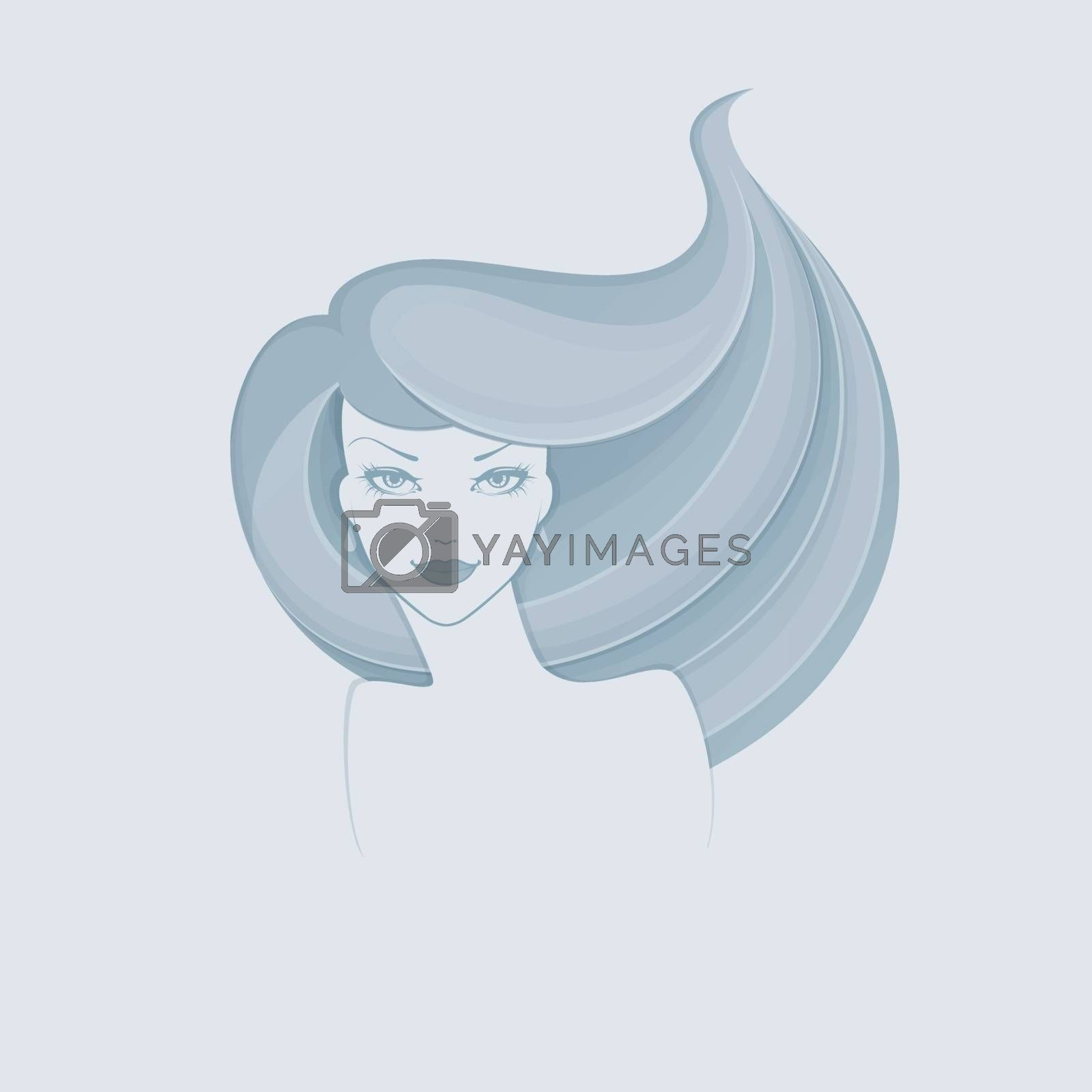 Vector illustration of Beautiful and young woman